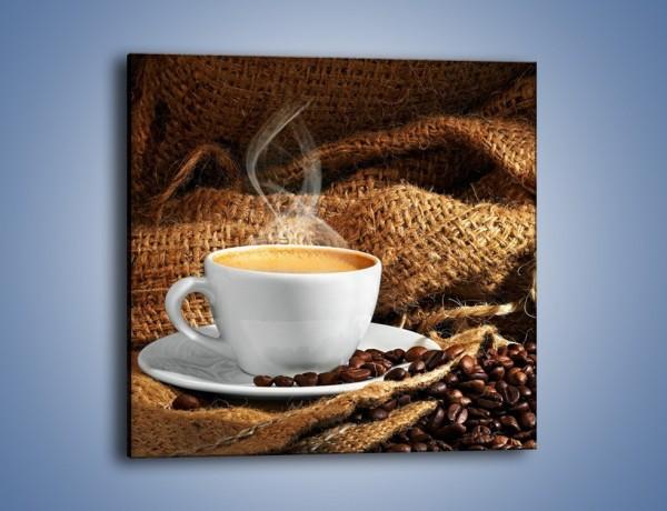 Obraz na płótnie – Upity łyk kawy – jednoczęściowy kwadratowy JN637