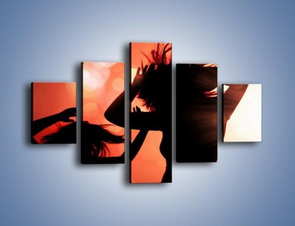 Obraz na płótnie – Taniec w czerwieni – pięcioczęściowy L091W1