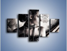 Obraz na płótnie – Czarny kobiecy charakter – pięcioczęściowy L095W1