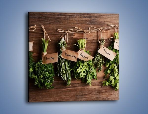 Obraz na płótnie – Świeże zioła w kuchni – jednoczęściowy kwadratowy JN638
