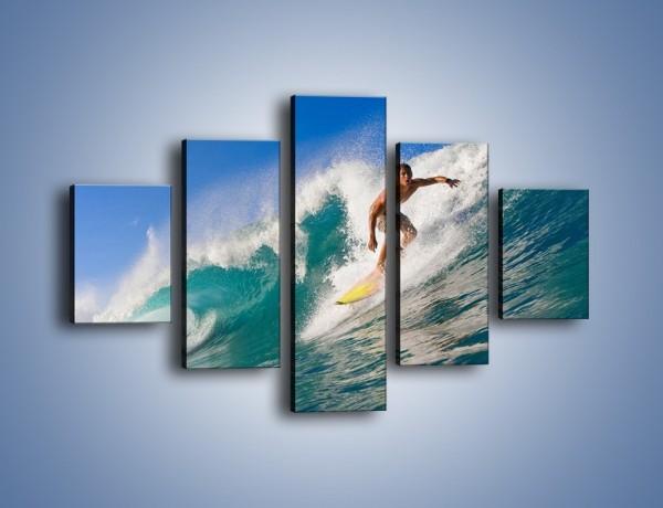 Obraz na płótnie – Surfing w letnim sezonie – pięcioczęściowy L132W1