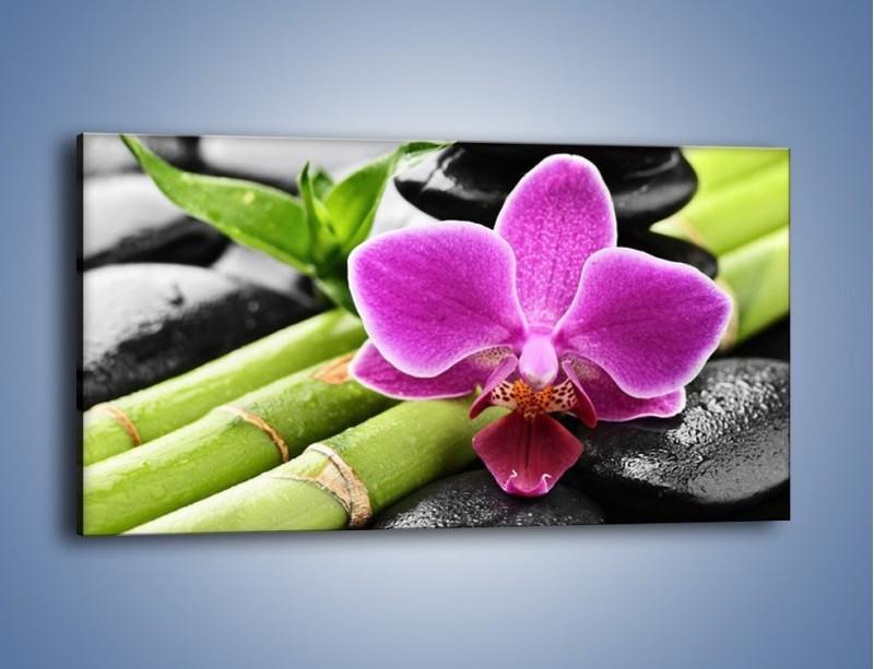Obraz na płótnie – Idealnie ułożony kwiat – jednoczęściowy panoramiczny K931