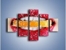 Obraz na płótnie – Cytrusy w słodkich ustach – pięcioczęściowy L207W1