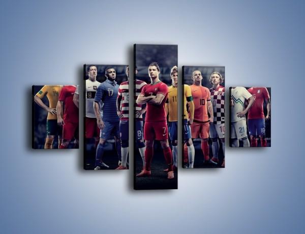 Obraz na płótnie – Największe gwiazdy footballu – pięcioczęściowy L277W1