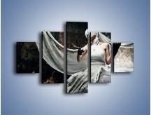 Obraz na płótnie – Dama w białych bandażach – pięcioczęściowy L278W1