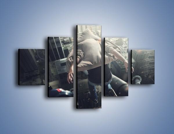 Obraz na płótnie – Skok w przepaść – pięcioczęściowy L290W1