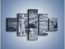 Obraz na płótnie – Dama w sepii – pięcioczęściowy L292W1
