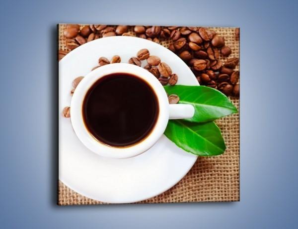 Obraz na płótnie – Kawa z zielonym dodatkiem – jednoczęściowy kwadratowy JN642