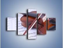 Obraz na płótnie – Melodia grana na skrzypcach – pięcioczęściowy O003W1