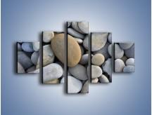 Obraz na płótnie – Kamienie duże i małe – pięcioczęściowy O006W1