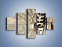 Obraz na płótnie – Głos w srebrnym mikrofonie – pięcioczęściowy O026W1