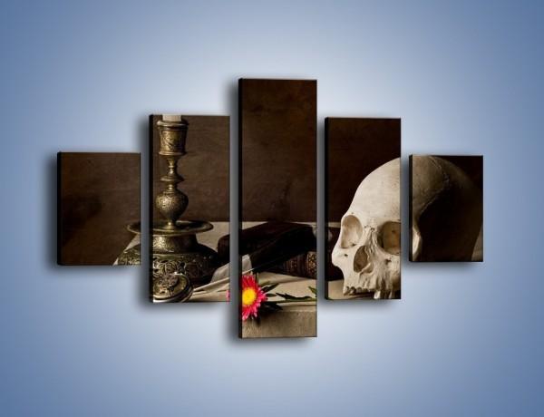 Obraz na płótnie – Stół naukowca i gerber – pięcioczęściowy O044W1