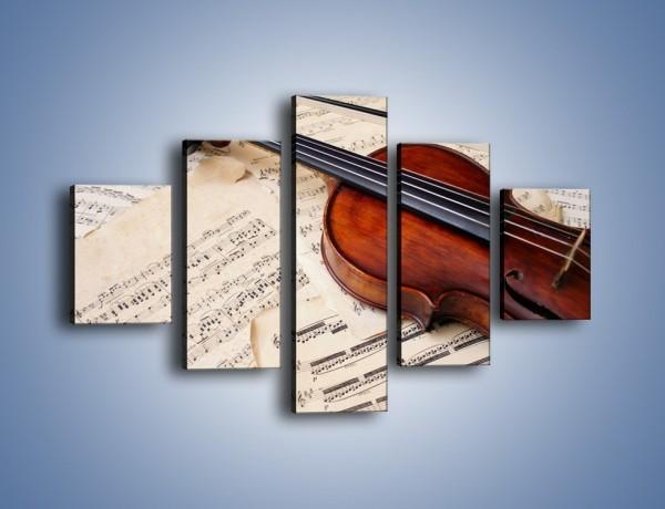 Obraz na płótnie – Spisana melodia na papierze – pięcioczęściowy O053W1