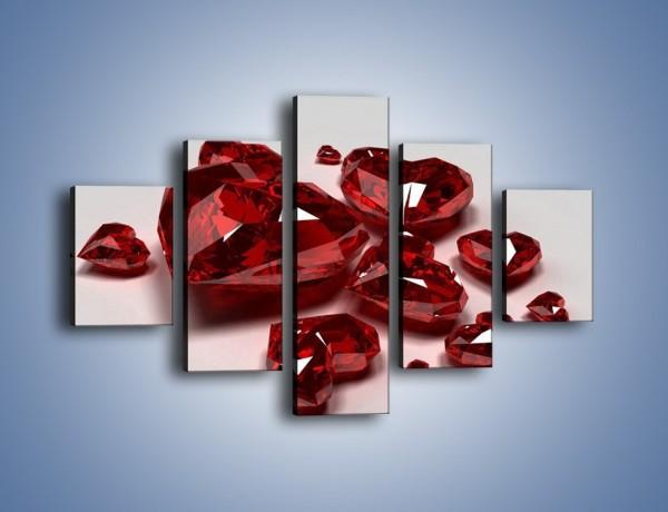 Obraz na płótnie – Serce zimne jak kryształ – pięcioczęściowy O067W1