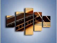 Obraz na płótnie – Instrumenty z drewna – pięcioczęściowy O108W1