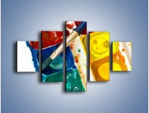 Obraz na płótnie – Kolorowy świat malowany farbami – pięcioczęściowy O116W1