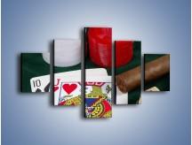 Obraz na płótnie – Męski świat hazardu – pięcioczęściowy O121W1