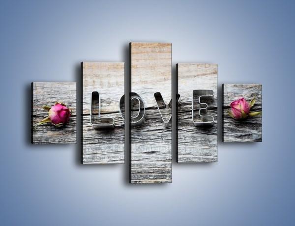 Obraz na płótnie – Miłość pachnąca różami – pięcioczęściowy O146W1