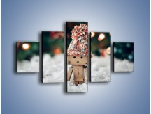 Obraz na płótnie – Mały ludek zimową porą – pięcioczęściowy O166W1
