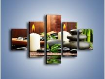 Obraz na płótnie – Masaż przy świecach – pięcioczęściowy O176W1