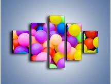 Obraz na płótnie – Basen z kolorowymi piłeczkami – pięcioczęściowy O208W1