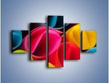 Obraz na płótnie – Kolorowe rulony – pięcioczęściowy O217W1