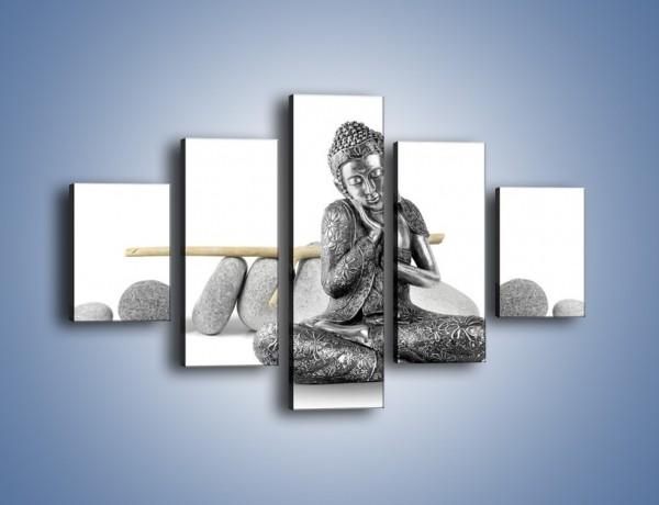 Obraz na płótnie – Budda wśród szarości – pięcioczęściowy O220W1