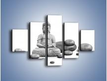 Obraz na płótnie – Budda wśród kamieni – pięcioczęściowy O229W1
