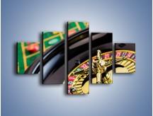 Obraz na płótnie – Czas drogocenny w kasynie – pięcioczęściowy O238W1
