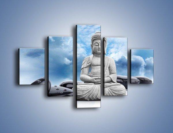 Obraz na płótnie – Z buddą w stronę nieba – pięcioczęściowy O244W1