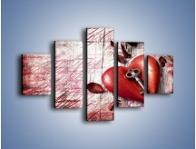 Obraz na płótnie – Klucz do serca – pięcioczęściowy O246W1