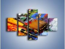 Obraz na płótnie – Kolory ze sobą zmieszane – pięcioczęściowy O251W1