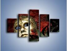 Obraz na płótnie – Maska pełna tajemnicy – pięcioczęściowy O252W1