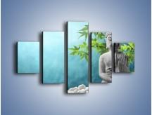 Obraz na płótnie – Idealny świat harmonii i spokoju – pięcioczęściowy O258W1