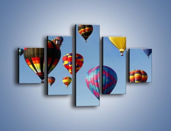 Obraz na płótnie – Kolorowe balony na niebie – pięcioczęściowy TM009W1