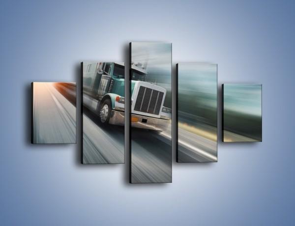 Obraz na płótnie – Pędząca ciężarówka na autostradzie – pięcioczęściowy TM035W1