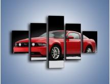Obraz na płótnie – Czerwony Ford Mustang GT – pięcioczęściowy TM052W1