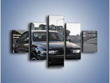 Obraz na płótnie – Czarne BMW E39 M5 – pięcioczęściowy TM072W1