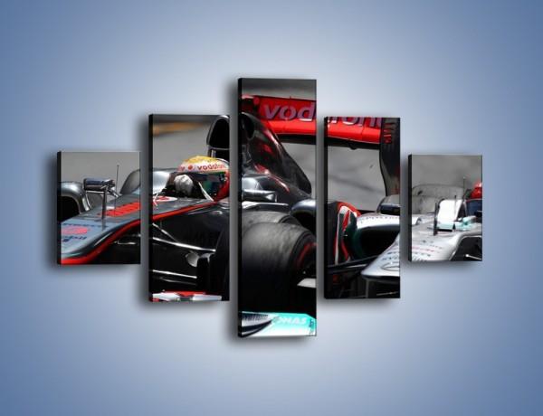 Obraz na płótnie – McLaren Mercedes Monaco GP – pięcioczęściowy TM076W1
