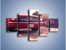 Obraz na płótnie – Czerwony Ford Mustang – pięcioczęściowy TM087W1