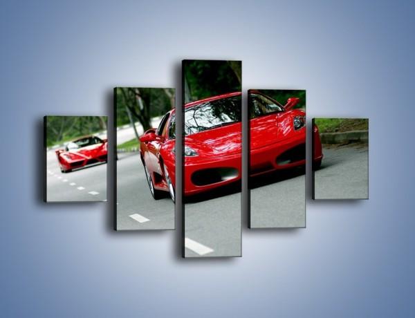 Obraz na płótnie – Ferrari F430 i Ferrari Enzo – pięcioczęściowy TM090W1
