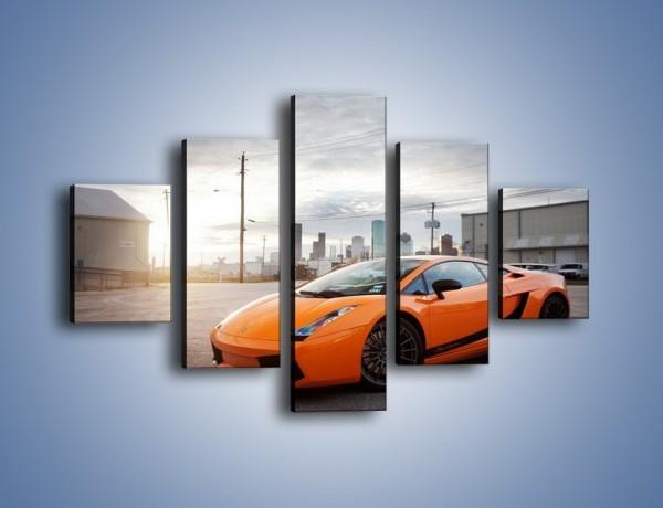 Obraz na płótnie – Pomarańczowe Lamborghini Gallardo – pięcioczęściowy TM102W1