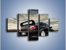 Obraz na płótnie – Czarne Subaru Impreza WRX Sti – pięcioczęściowy TM133W1