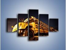 Obraz na płótnie – Amerykański School Bus – pięcioczęściowy TM146W1