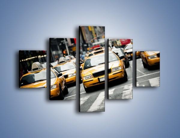 Obraz na płótnie – Nowojorskie taksówki – pięcioczęściowy TM149W1