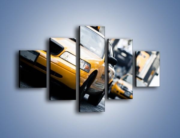 Obraz na płótnie – Taksówki w Nowym Jorku – pięcioczęściowy TM151W1