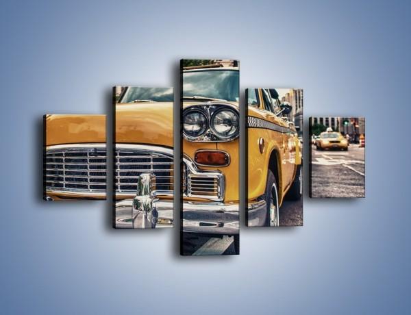 Obraz na płótnie – Stara nowojorska taksówka – pięcioczęściowy TM159W1