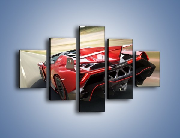 Obraz na płótnie – Lamborghini Veneno Roadster – pięcioczęściowy TM211W1
