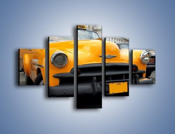 Obraz na płótnie – Kubańska taksówka cabrio – pięcioczęściowy TM222W1