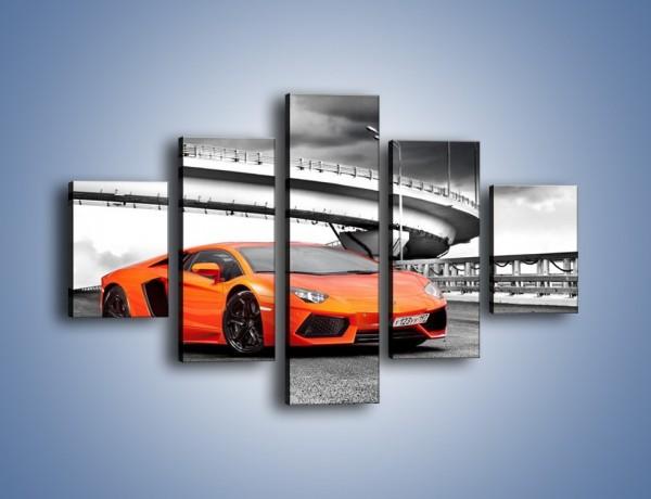 Obraz na płótnie – Lamborghini Aventador na szarym tle – pięcioczęściowy TM237W1